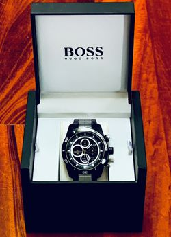 Hugo BOSS | Men's Chronograph - Hero Black Ion-Plated | Stainless Steel Watch | Excellent Condition! for Sale in Bellevue,  WA