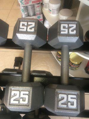 25lbs Dumbbells for Sale in Fort Lauderdale, FL