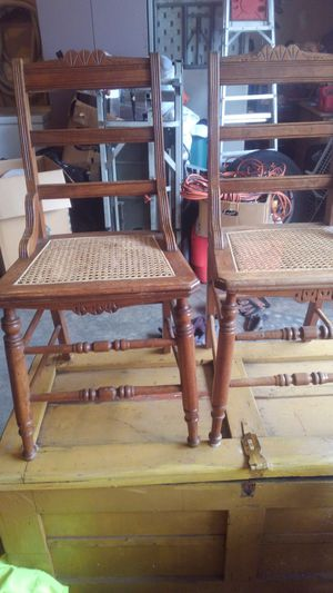 Antique chairs and foot stool for Sale in Tacoma, WA