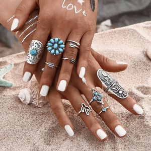 *NEW ARRIVAL* 9 PCS Set Punk Ring Retro Southwest Finger Knuckle Rings Boho Style *See My Other 300 Items* for Sale in Palm Beach Gardens, FL
