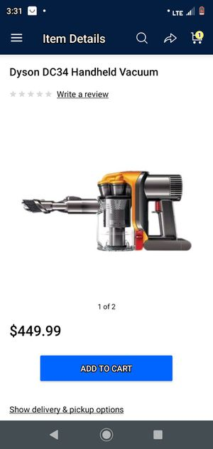 DYSON DC34 HAND HELD VACUMM for Sale in West Valley City, UT