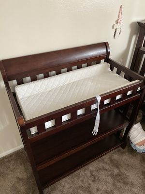 Infant wooden changing table for Sale in Long Beach, CA