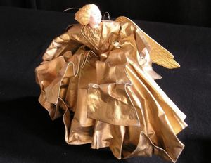 Gold Angel Holiday Decorations - 4 New in Box for Sale in San Francisco, CA