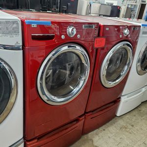 LG Front Load Washer And Electric Dryer Set With Pedestals Working Perfectly Four Months Warranty for Sale in Baltimore, MD