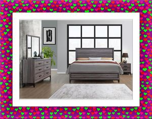 Grey Bedroom Set with Mattress for Sale in NEW CARROLLTN, MD
