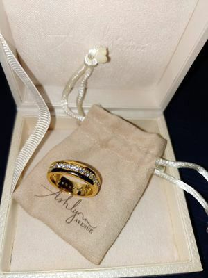 Ashlynn Avenue - Solare 18K Yellow Gold-Plated Ring with Pavé Gemstones 0.93 Ctw for Sale in Woodbridge, VA