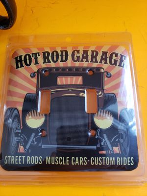 New metal sign HOT ROD GARAGE switch plate decor for Sale in Stow, OH