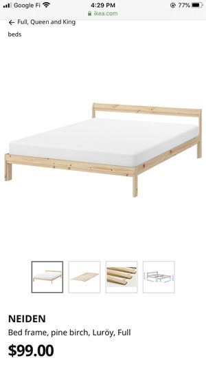 IKEA bed frame and slat. for Sale in Philadelphia, PA