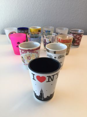 Large collection of over seventy (70) shot glasses - Various sizes for Sale in Las Vegas, NV