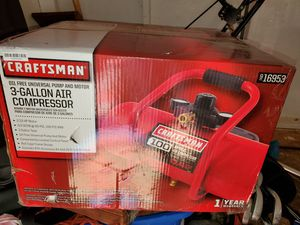 Craftsman oil free universal pump and motor 3 gallon air compressor for Sale in District Heights, MD