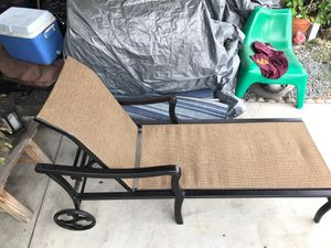 Metal pool chaise lounger with wheels for Sale in San Diego, CA