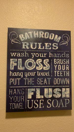 Art Decor for bathroom for Sale in San Mateo, CA