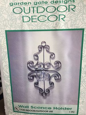 Wall Sconce Candle holders. For Indoor or outdoor home decor. $15 each or $25 for both. New In Box never opened. for Sale in West Jordan, UT