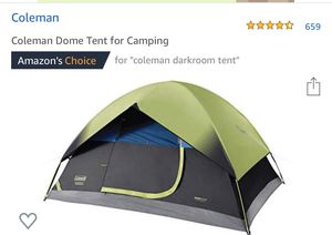 Coleman Dome Tent for Camping for Sale in Upland, CA