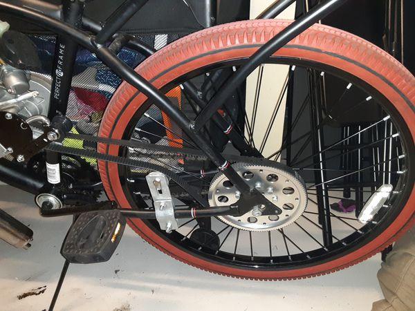 Huffy 2 stroke motorized bike 80cc belt drive