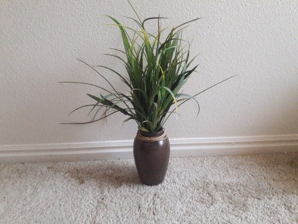 Vase with fake plant