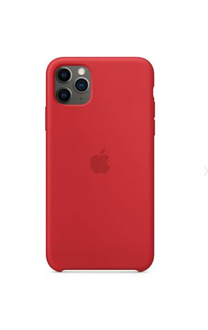 iPhone 11 Pro/11 Pro Max/Apple Silicone Case red for Sale in Canyon Country, CA