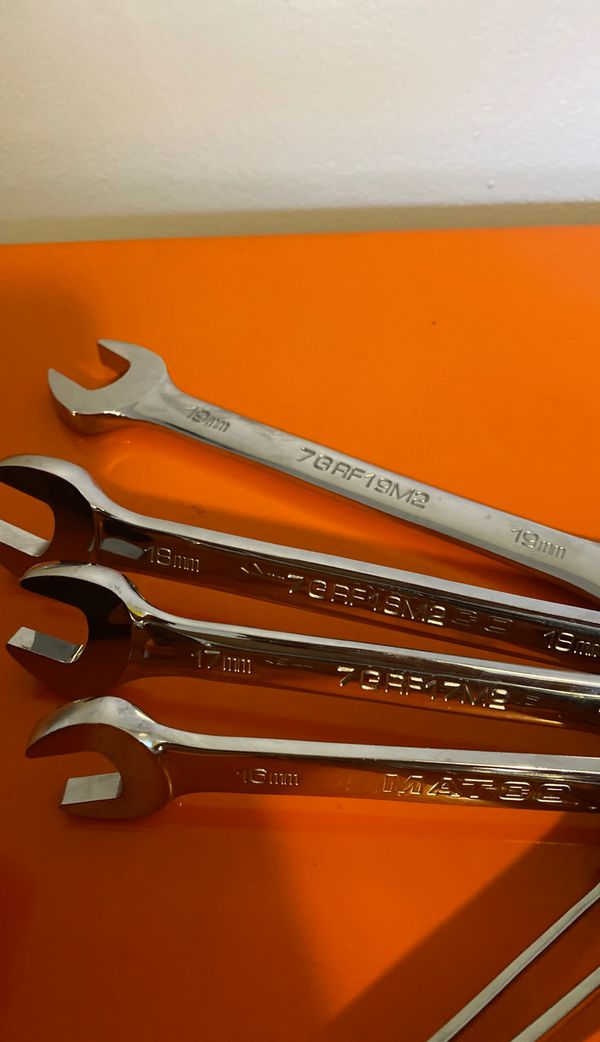Matco ratcheting wrenches 8mm-19mm