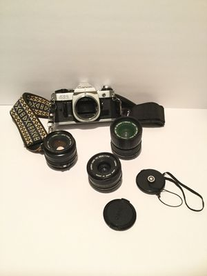 AE-1 Canon Camera with 3 Lenses Camera Excellent Condition All 3 Lenses Included for Sale in Riverside, CA