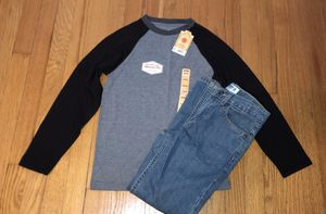NEW boys outfit baseball tee and Jeans for Sale in Berwyn, IL