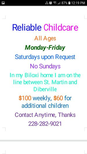 Offering Reliable Childcare for Sale in Biloxi, MS