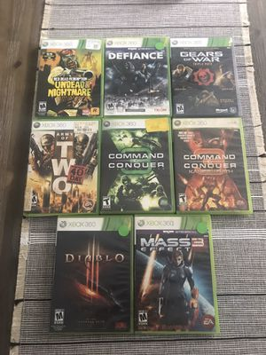 Xbox 360 games big titles for Sale in Farmington, CT