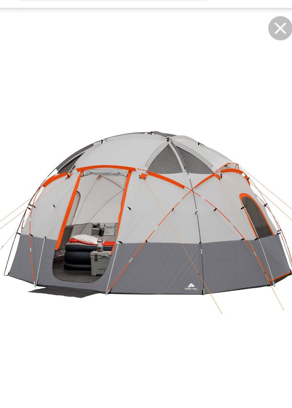 Ozark Trail 12 person Basecamp Tent with Built in LED lights