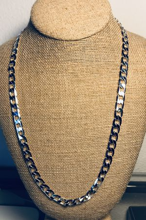 925 silver stamped chain necklace for Sale in Orlando, FL