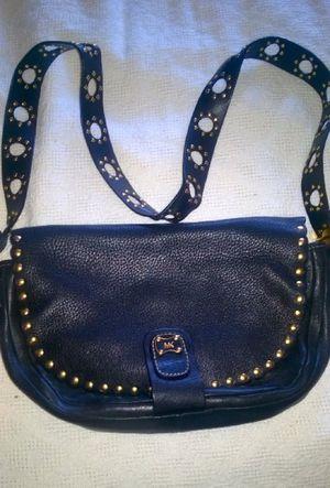 Michael Kors vintage blk leather bag grain texture for Sale in Boston, MA