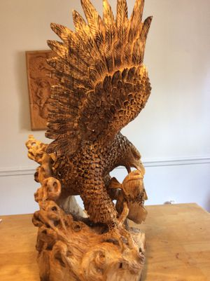 Wood sculpture eagle for Sale in Alexandria, VA