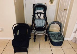 UPPPA VISTA STROLLER BASSINET NUNA CAR SEAT WITH BASE & ADAPTER for Sale in Riverside, CA