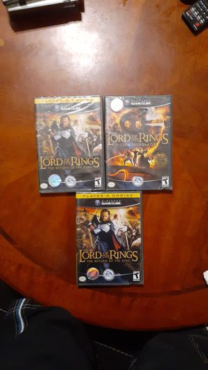 Nintendo gamecube, The lord of the rings, new games. for Sale in Apex, NC