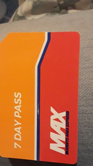 7 day pass for the MAX BUS for Sale in Modesto, CA