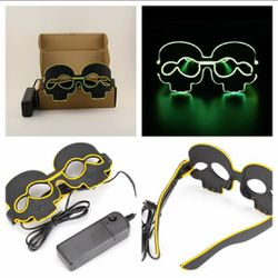 New Yellow Light Up Led Flashing Skull Glasses for Sale in San Angelo,  TX