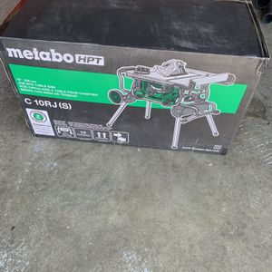 Metabo Hitachi Table Saw With Stand In Box for Sale in Westminster, CO