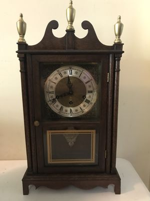 Antique Westminster Chime German Eight Day Shelf Mantle Clock Works Great for Sale in Lexington, SC