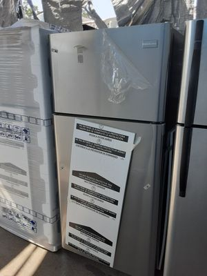 $499 Frigidaire stainless 18 cubic fridge brand new includes delivering the San Fernando Valley a warranty and installation for Sale in Los Angeles, CA