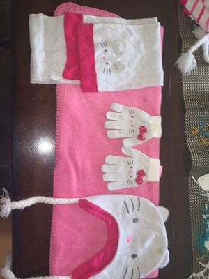 Hello kitty hat gloves and scarf for Sale in Rowland Heights, CA
