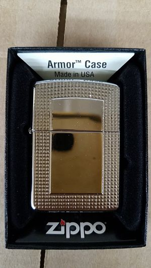 Zippo tr carved border high polished chrome armor 28366 for Sale in Los Angeles, CA