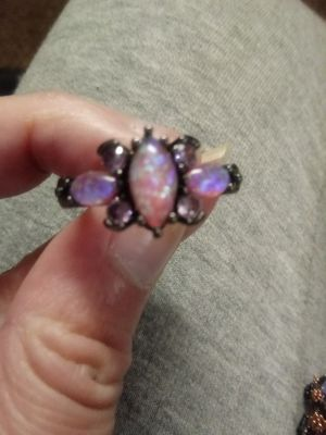Created pink fire opal ring for Sale in Salt Lake City, UT