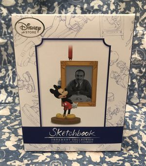NEW RARE Disney Store Mickey Mouse Tribute to Walt Disney Sketchbook Christmas Ornament Limited Edition Brand NEW NEVER OPENED Perfect Gift for Sale in Phoenix, AZ