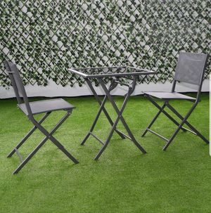 BRAND NEW 3 Piece Patio Set Outdoor Furniture Glass for Sale in Sarasota, FL