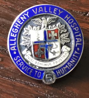 """Vintage Allegheny Valley hospital pin. Made of Sterling silver & measures .65"""" for Sale in Bradenton, FL"""