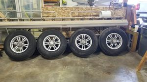 6 lug aluminum trailer wheels and tires for Sale in Shorewood, IL