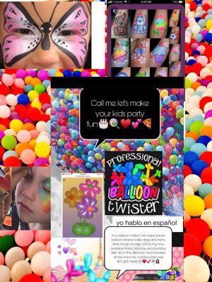 I do face painting and animal balloons for party's ask for my variety prices🎉💁🏻❤️ for Sale in Arlington, TX