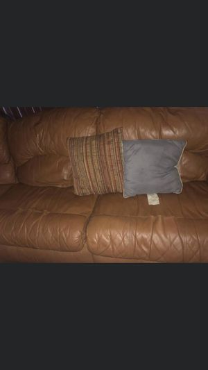 Brown Leather Couch for Sale in Milwaukee, WI