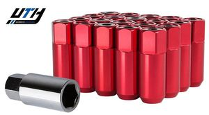 Godspeed 20pc Type5 Forged Wheel Lug Nuts 12x1.5 w/ Cap RED for Sale in El Monte, CA
