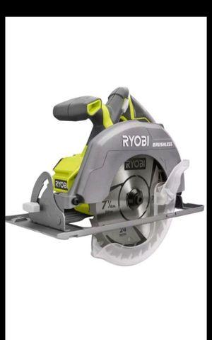 RYOBI 18V CORDLESS BRUSHLESS 7-1/4 CIRCULAR SAW TOOL ONLY BRAND NEW for Sale in San Bernardino, CA