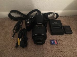 Nikon D3200 DSLR camera and 5 lenses for Sale in Tampa, FL