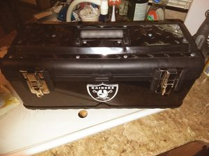 Brand new Raiders tool box diamond plated top for Sale in Seattle, WA